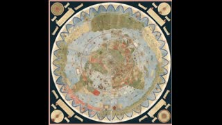 Flat earth map old