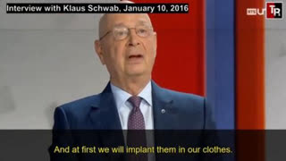 KLAUS SCHWAB DISCUSSES IMPLANTED MICROCHIPS in 2016 Interview with Swiss Television Channel RTS