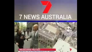 Main stream media gets cut off during a live cross.
