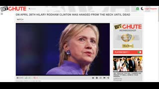 HILARY RODHAM CLINTON WAS HANGED FROM THE NECK UNTIL DEAD ON APRIL 26TH