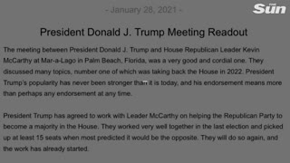 Trump  McCarthy vow to take back the House in 2022_1080p