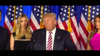 Donald Trump the magnificent victory speech. We did not forget